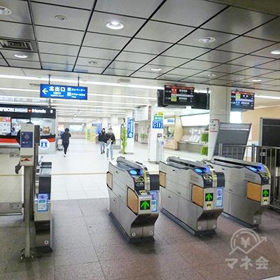 山陽電鉄本線・板宿駅改札口です(1ヶ所のみ)