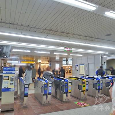 阪神本線・西宮駅、えびす口(戎口)改札です。