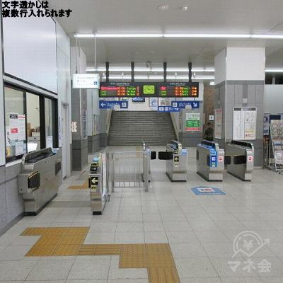 JR西日本(湖西線)堅田駅の改札(1つのみ)を出ます。