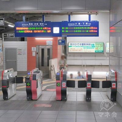 JR鹿児島本線八幡駅改札(1つのみ)を出ます。