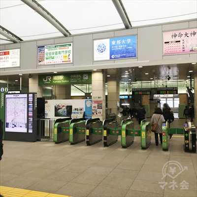 JR京浜東北線の蒲田駅中央改札です。