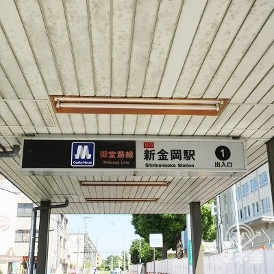 新金岡駅を出ます。(振り返り撮影)