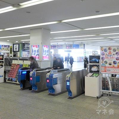 小田急線中央改札です。