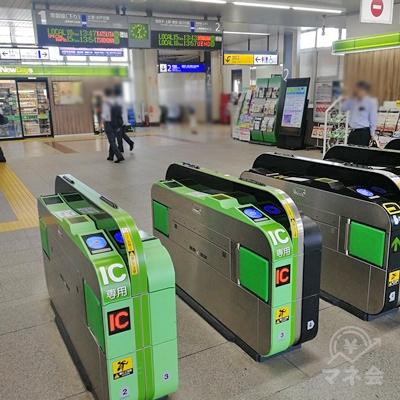 JR牛久駅の改札です。