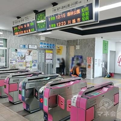 東武東上線 鶴瀬駅の改札です。
