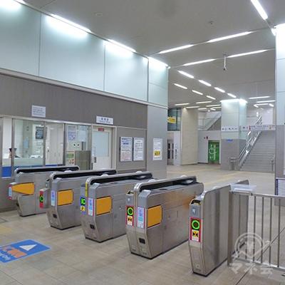 近鉄奈良線・若江岩田駅の改札口です(1ヶ所のみ)