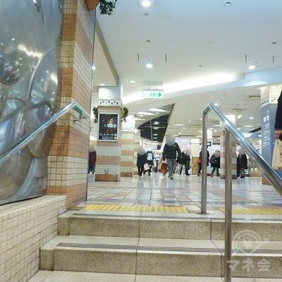 階段を上がると「あべちか」のフロアに出ます。