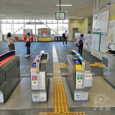 西武新宿線 南大塚駅の改札です。