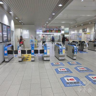 JR東海道本線、住吉駅(1つのみ)を出ます。