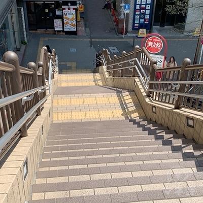 階段がありますので降りましょう。