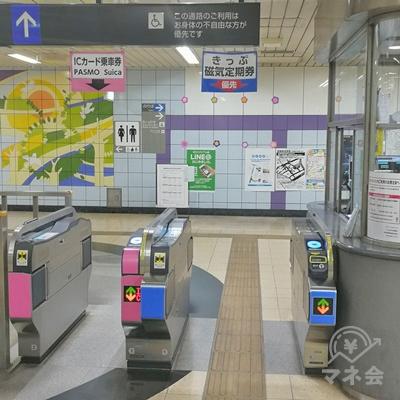 埼玉高速鉄道南鳩ヶ谷駅の改札です。