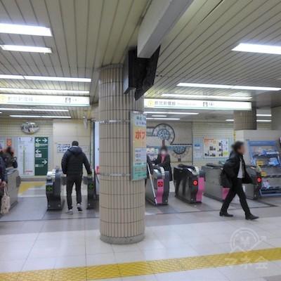 都営新宿線瑞江駅の改札口です。