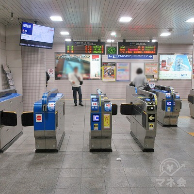 JR東海道本線、神戸線、西宮駅改札(1つのみ)を出ます。
