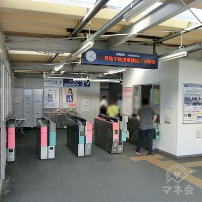 東武アーバンパークラインの野田市駅改札を出ます。