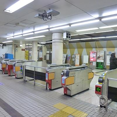 大阪メトロ谷町線 喜連瓜破駅の改札口です(1ヶ所のみ)