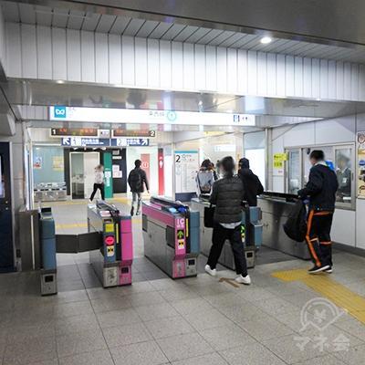 南行徳駅の改札です。