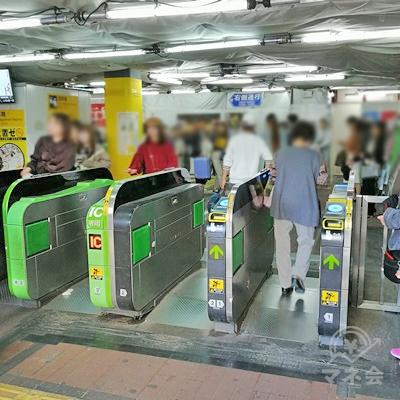 JR新大久保駅の改札です。