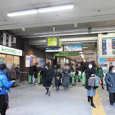 JR中野駅南口です。