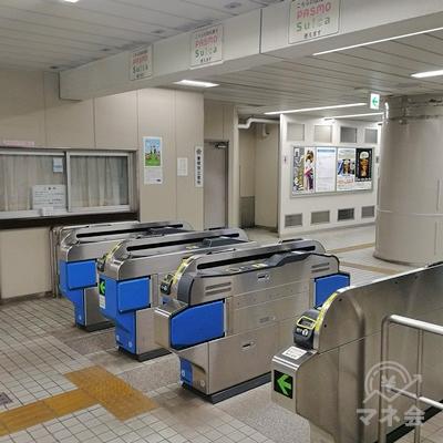 千葉モノレール桜木駅の改札です。