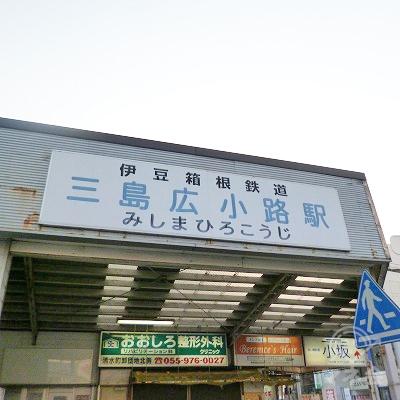 伊豆箱根鉄道の三島広小路駅にて下車します。