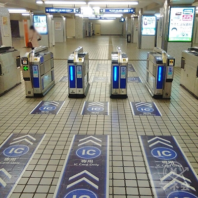 京阪本線古川橋駅改札です。(改札1箇所のみ)