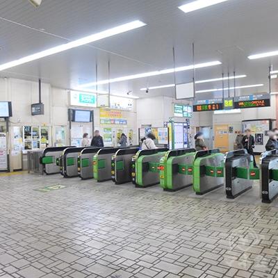 JR京浜東北線蕨駅の改札口です。改札はここだけです。