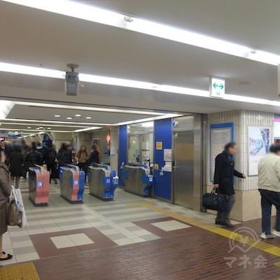 小田急町田駅の東口改札口です。