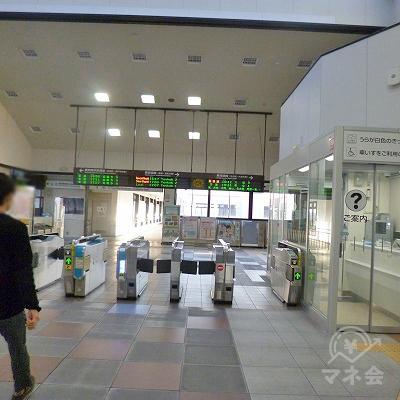 JR東海道本線の岡崎駅にて下車します。改札口は1つのみです。