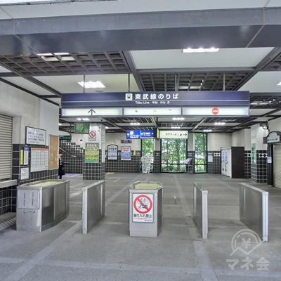 東武大師線の西新井大師駅改札を出ます。