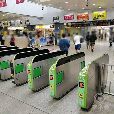 JR津田沼駅の改札です。