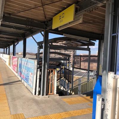 愛知環状鉄道線の大門駅の出口は1つです。