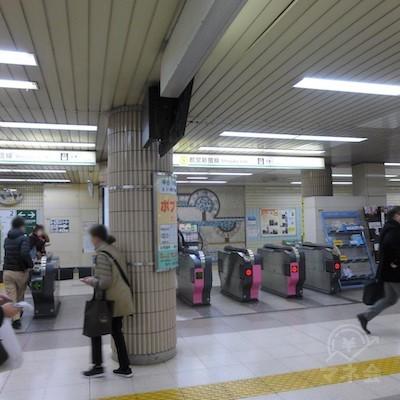 瑞江駅の改札です。