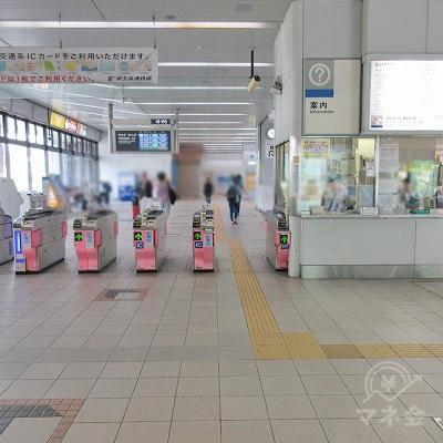 泉北高速鉄道、和泉中央駅改札(1つのみ)を出ます