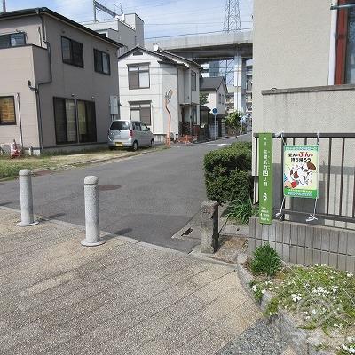 矢賀新町4丁目6で右へ曲がります。