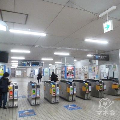 近鉄大阪線・近鉄八尾駅 中央出口側改札口です。