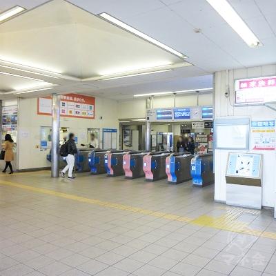 小田急相模原駅の改札(1か所)です。