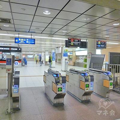 山陽電鉄本線・板宿駅の改札口です(1ヶ所のみ)