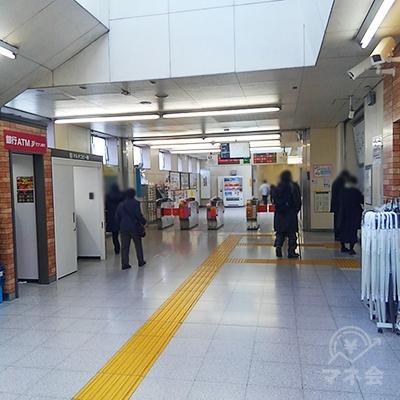 新京成線鎌ヶ谷大仏駅改札です。