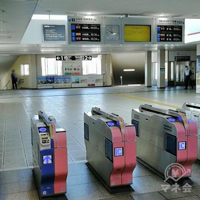 小田急線愛甲石田駅の改札です。
