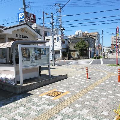 紀三井寺交番で左へ曲がります。