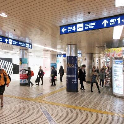 七条通 東本願寺に目指す過程で、出口1,2の方向に進みます。