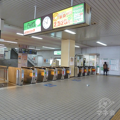 河内小阪駅の改札口です。改札はこの1ケ所だけです。