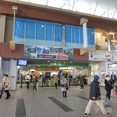 JR上尾駅の改札口(1か所)です。
