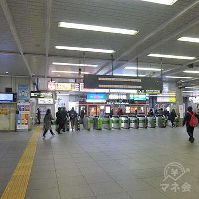 川口駅の改札口です。
