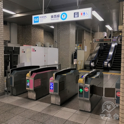 東京メトロ東西線葛西駅の中央改札口です。