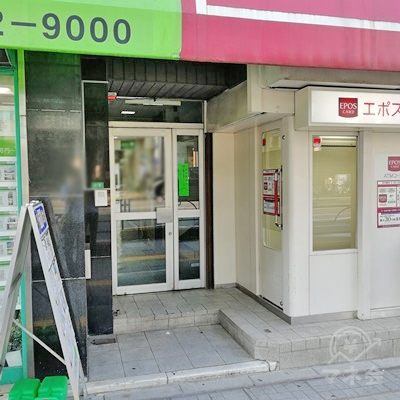 ビルの入口です。レイクALSAは6階です。
