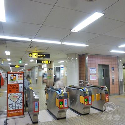 大阪メトロ谷町線 都島駅の改札口です(1ヶ所のみ)。