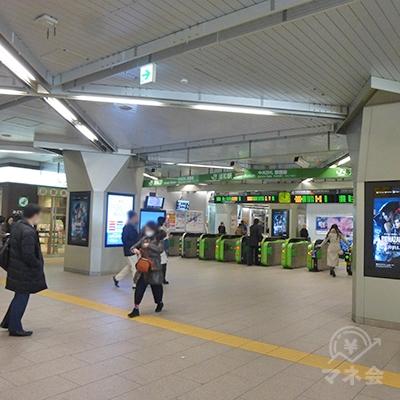 JR浦和駅中央改札です。