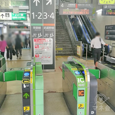 JR新松戸駅の改札です。