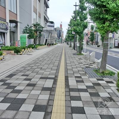 横断歩道をわたったら、すぐ右に曲がり真っすぐに進みます。